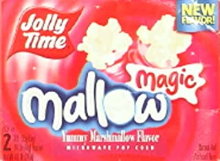 Jolly Time Mallow Magic Marshmallow Flavor Microwave Popcorn (Pack of 2)