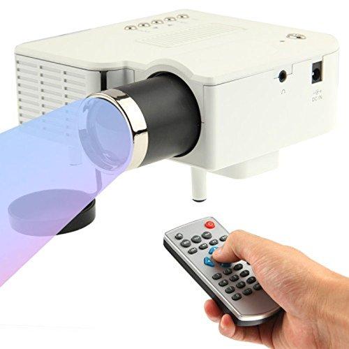 A30 Mini LED Laser Projektor Beamer Cinema Heimkino HD 1080p USB SD AV HDMI VGA, Bild-System: LCD, Auflösung: max. 1920 x 1080, Helligkeit: 48 Lux, 380g Gewicht, Farbe Schwarz oder Weiß