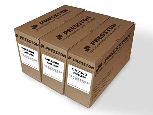 Presston DR2300 - Tambor regenerado compatible con Brother DCP-L2500D HL-L2365DW MFC-L2700DN (3 unidades), color negro