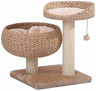 PetPals Hand-Made Paper Rope Natural Bowl Shaped with Perch Cat Tree