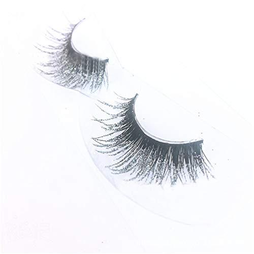 3 Paires 3D Silver Glitter Long Faux Cils Cils Sequin Shimmer Couleur Faux Cils Extension Surdimensionnée Outils De Maquillage