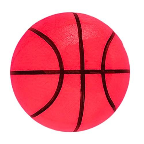 YCX Luminous Rubber Basketball Größe 7, LED-Lichtvibrationssensor Luminous Basketball, Ausgestattet Mit 2 Sensorleuchten, Eingebaute 6 Lr44-Tastenbatterien (Batterien Können Ersetzt Werden)