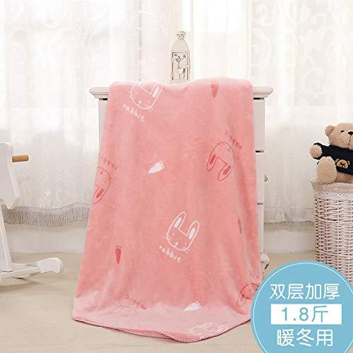 Blanket S-Werthy Couverture bébé Double épaisseur Molleton Corail Nouveau-né bébé Couverture de Cheveux Petite Couverture de Nuages bébé Couverture 100 * 140CM, B