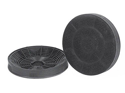 Silverline AF 1002pares filtro de carbón activo de bajo Set Accesorios Campana recirculación