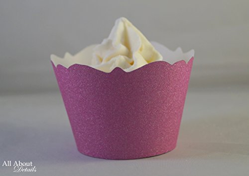 All About Details Taffy Pink Glitter Cupcake Wrappers, Set of 12