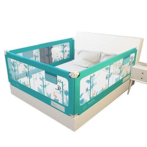 Barrera Seguridad Niños Paquete De 3 Ajustable Niño Rieles De Cama Barandilla De La Cama La Seguridad Dormir, 4 Tamaños LIANGJUN (Color : Blue, Size : 1.8m+1.5m+1.8m)