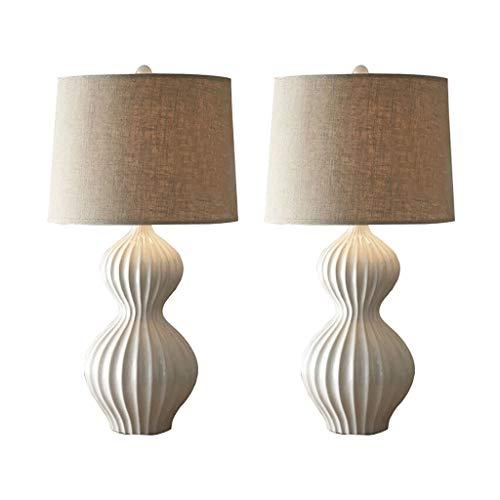 Lampara Mesa American Ceramic lámpara de mesa de noche lámpara de escritorio de la tabla lámparas mesita de noche for habitaciones tela de la cortina de la lámpara for la sala de estar, oficina Durade
