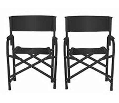 Standard Folding Make Up Artist Directors Chair/Stool with Wide Seat (Pack of 2)
