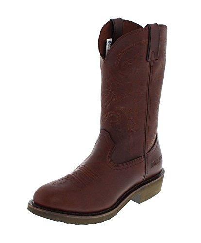 Durango Boots FR104 D Pull-ON Brown Lederstiefel für Herren Braun Westernstiefel, Groesse:40 (7.5 US)