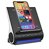 15 WATT Wireless Charger, Bluetooth Premium Speakers, Docking Station with Built in Mic Handsfree Call, 4 in 1 Station for iPhone 12/12 Mini/12 Pro Max and Samsung Phone