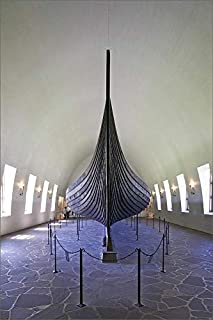 robertharding 12x8 Print of Gokstad Ship, 9th Century Burial Vessel, Viking Ship Museum (5064199)