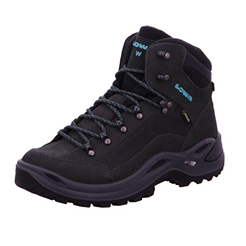Lowa Renegade GTX Mid Wide Women - Anthracite/Turquoise