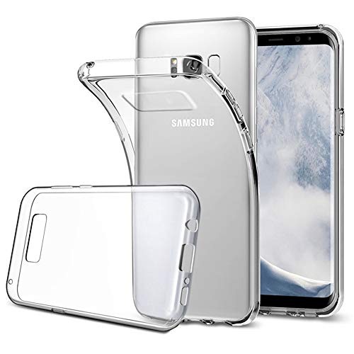 Amonke Handyhülle für Samsung Galaxy S8 Plus - Flexible Samsung Galaxy S8 Plus Hülle Silikon Transparent, Ultra Klar TPU Case Cover Durchsichtige Handytasche Schutzhülle für Samsung Galaxy S8 Plus
