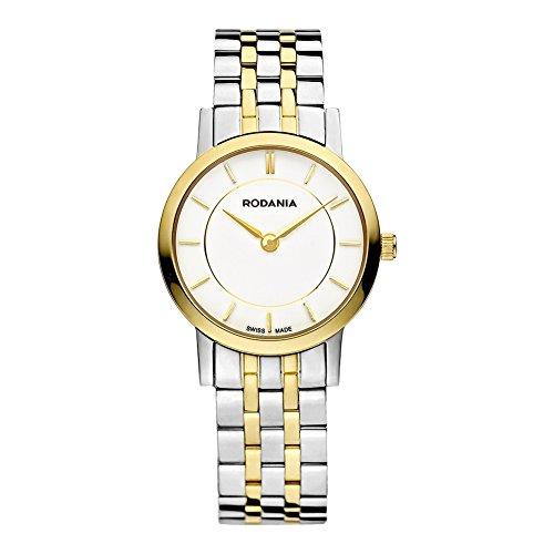 Rodania Swiss Damen-Armbanduhr Elios Analog Quarz Verschiedene Materialien RS2504680