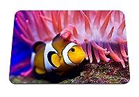 26cmx21cm マウスパッド (海のカクレクマノミイソギンチャク水) パターンカスタムの マウスパッド