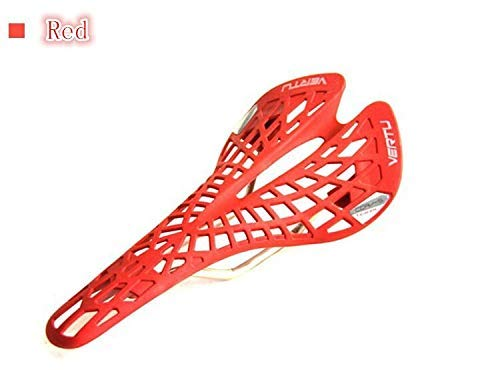 Super Light plástico Agentes de fábrica Vertu sillín de bicicletas de montaña de Silla 6 colores Cojín de PVC (Color : Red)