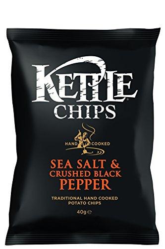 Kettle Chips Patatas Fritas con Pimienta y Sal - Paquete de 18 x 40 gr - Total: 720 gr