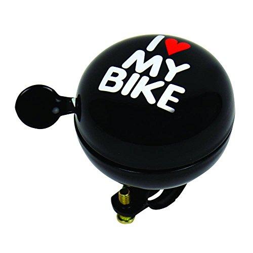 Dresco 5250108Bicicleta Timbre Ding Dong I Love My Bike 60mm