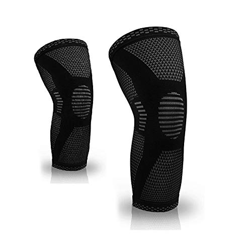 Serveuttam Knee Cap for Pain Relief –Ortho Knee Support for Men Women | Knee Sleeves for Running Jogging Gym Squats | Pair Knee Cap Compression Sleeves for Arthritis Knee Pain (Black and White, M)