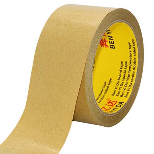 Kraft Papier Tape Waterdichte Duct Tape Universele Zelfklevende Verpakking Tape Hoge Temperatuur Tape Afdichting Mond Sticky Type Boek Cover Papier Tape 60MM width × 50m × 5 rolls