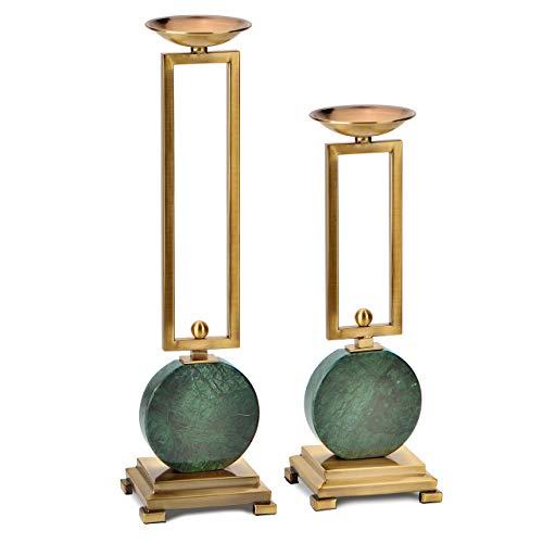 CFLFDC CandlestickBrass Metal Gold Kandelaars zijn zorgvuldig gemaakt en gepolijst een paar jade kandelaars
