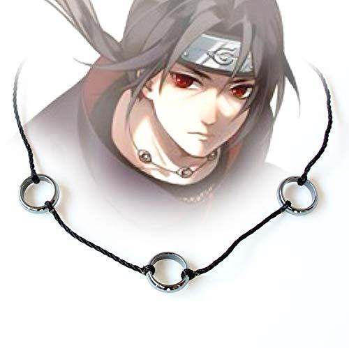 Naruto Hokage Cosplay Uchiha Itachi Touw Kettingen Ketting Zwart Obsidiaan Heren Hanger Kettingen Sieraden Collectible Accessoires