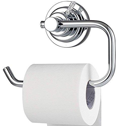 BOPai Modern Vacuum Suction Cup Toilet Paper Holder,Removable Bracket