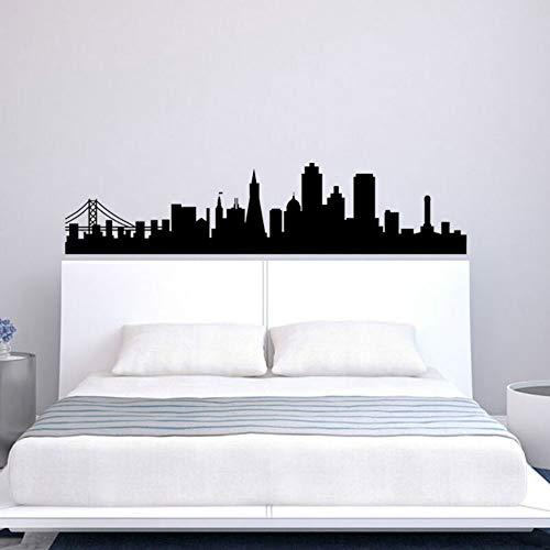 SLQUIET Anpassbare Skyline Silhouette Moderne Dekoration Schlafzimmer Bewegliche Poster Haus...