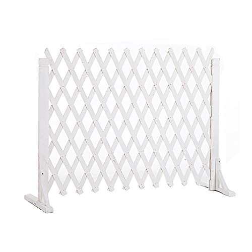 JHHL Houten witte hek Koolzuurhoudende anti-corrosie Outdoor guardrail Tuin decoratieve hek Telescopische partitie Plantenstandaard