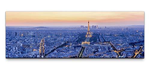 Leinwandbild auf Echtholzrahmen Frankreich Eiffelturm 150x50cm