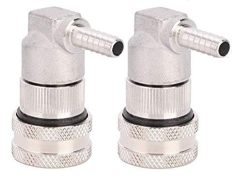 Rosilesi 2 x connecteur - connecteur de fût de déconnexion de Verrouillage à Bille en Acier Inoxydable 1/4 Barb pour Homebrew