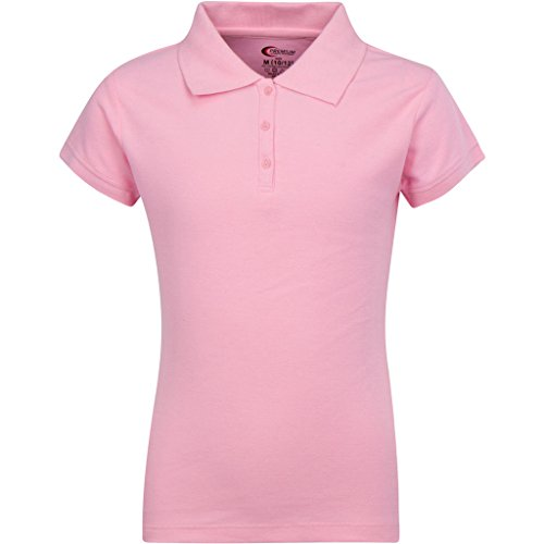 Premium Short Sleeves Girls Polo Shirts Pink S 7/22