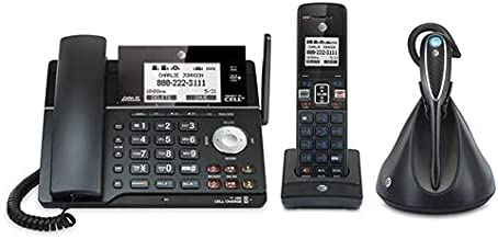 $129 » AT&T DECT 6.0 2-line corded / cordless telephone with headset and answering system with BLUETOOTH wireless technology