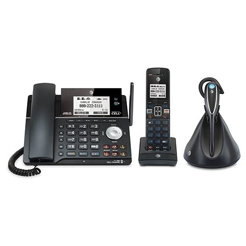 AT&T DECT 6.0 2-line corded / cordless telephone with headset and answering system with BLUETOOTH wireless technology