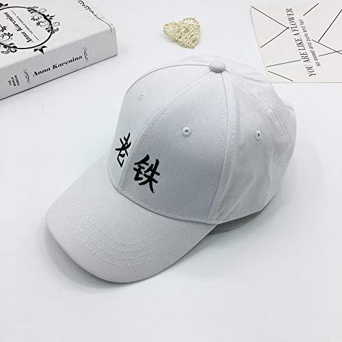 JXFM Persoonlijkheid zonder shampoo baseball cap mode borduurwerk gesneden gebroken letter cap paar reizen zonnehoed