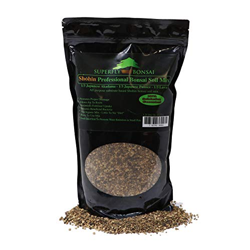 Shohin & Mame Bonsai Soil Mix for Small Trees - All Purpose, Premium Professional Blend Tree Potting Blend - Akadama, Black Lava, Pumice -'Boons Mix'