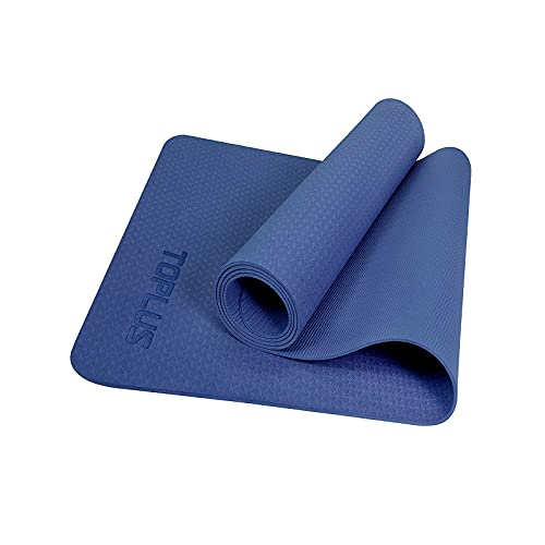 Eco Friendly Yoga Mat For Meditation Yoga, TPE Yoga Mat for Home Workout, Non Slip Textured Surfaces 4MM Thick to...