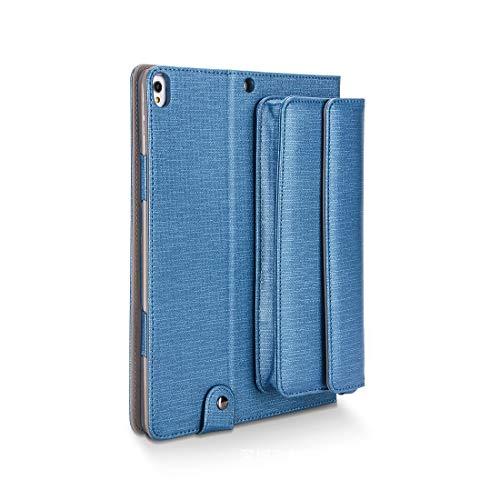 YABAISHI Funda compatible con iPad Pro 10.5, ultra delgada, ligera, con soporte, cubierta trasera, asa de agarre y correa para el hombro, compatible con Apple iPad Pro de 10.5 pulgadas (color: azul)