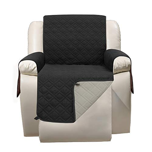 23 Inch Recliner Chair Cover - RBSC Home Soft Lazy Boy Chair Covers for Pets Dogs Cats Washable -  Gezi-recliner-black