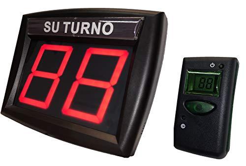 Eliminacode Gestione code Rosso con Telecomando LCD