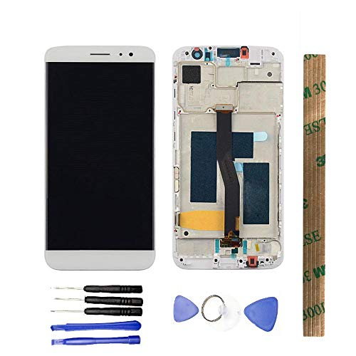 JayTong - visualización LCD y digitalizador de visualización táctil de Repuesto para Huawei Nova Plus MLA-L11 MLA-L02/G9 Plus Blanco con Marco