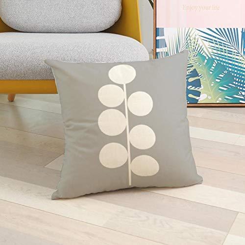DLYWLCC Funda de cojín para sofá de 6 piezas, diseño geométrico, color gris nórdico