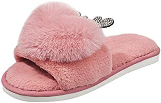 YANGLAN The new winter indoor cotton slippers female cartoon couple home slippers with non-slip heavy-bottomed men autumn and winter Household slippers (Color : E, Size : (36~37))