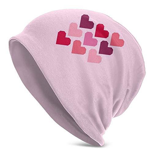 longdai Gorra de casco con diseño geométrico de corazones, color rosa, para...
