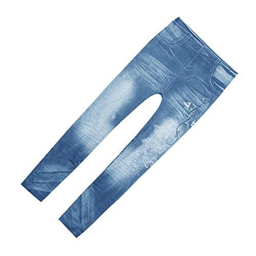 dailymall Leggins Elásticos sin Costuras Pantalones Jeans Artificiales Mallas Larfos de Algodón…