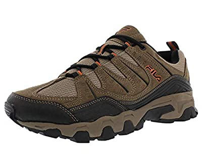 Fila Men's Outdoor Hiking Trail Running Athletic Shoes Brown/Orange (8.5)
