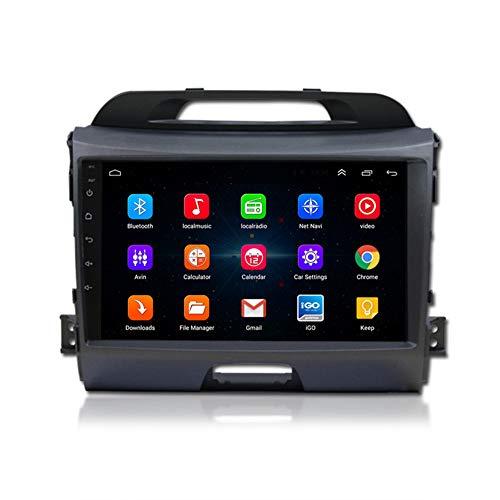 XMZWD Auto Radio Satellitari 9 Pollici Android 9.1 Autoradio GPS Navigation for KIA Sportage R 2011-2017 con Multimedia Paly WiFi Bluetooth Controllo del Volante Specchio Link,4+64G