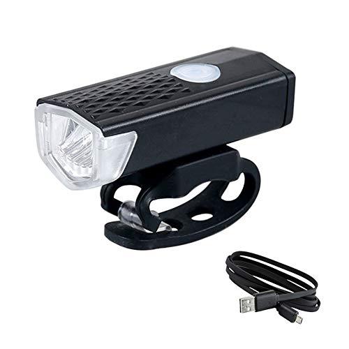 Jorzer Faro de Bicicleta USB Recargable 300 lúmenes 3 Modo lámpara de luz de Bicicleta Ciclismo led Linterna Linterna Negra