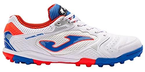 Joma Zapatos de fútbol Dribling TF Turf para hombre, blanco (White-royal), 42 EU
