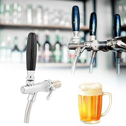 Grifo de cerveza grifo dispensador con accesorio de cepillo de cubierta antipolvo para el hogar Sistema de barril de cerveza comercial duradero Herramienta para el hogar Fácil de limpiar
